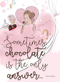 Valentines Day Chocolate is the Only Answer Wall Art Print