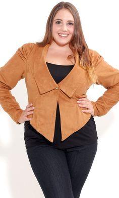 Plus Size Pleat Shoulder Jacket image