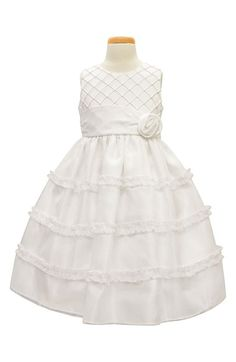 Sorbet Diamond Pleated Satin & Organza Dress (Toddler Girls & Little Girls) available at #Nordstrom