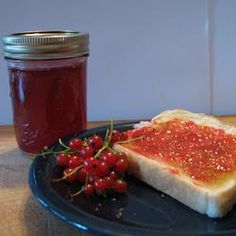 """Red Current Jelly Recipe - AllRecipes.com - Recipe by BJBORSODY - """"A classic red currant jelly made from fresh currants. This came from one of my mother's handwritten recipe cards. I do not know its origin, but know it probably dates back to the early 1940's."""""""