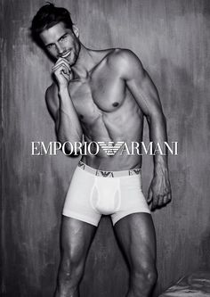 Tomas Skoloudik is in a Smiling Mood for Emporio Armani Fall/Winter 2012 Underwear Campaign