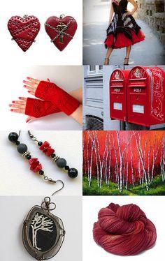 I love red, etsy treasury