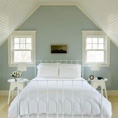 Horizontal Painted Wood Walls Love the colour scheme