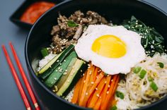 Definitely making a variation of this Paleo Bibimbap this week, but with ground turkey.