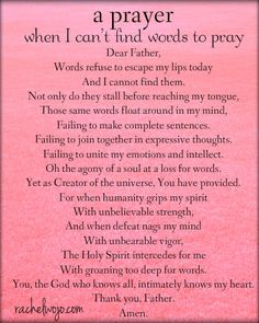 a prayer for when I can't find words