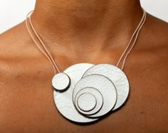 Nube Leather Necklace - White