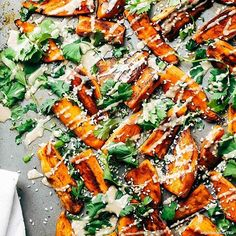 30 minute sesame roasted sweet potatoes by {pinch of yum} Healthy Recipes, Vegetable Recipes, Whole Food Recipes, Vegetarian Recipes, Cooking Recipes, Vegan Vegetarian, Food Dishes, Side Dishes, Paleo
