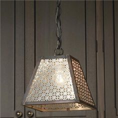 Pyramid Radiator Screen Pendant Aluminum/Darkened Copper 100 watts. (8Hx8W) 6 wire, 3 chain. 	 Product SKU: PE09047 AL Price:  $199.00