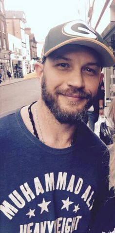 Tom Hardy in a Muhammad Ali shirt