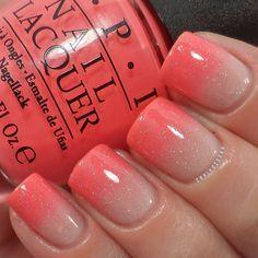 Nail Design. Nail art. Creative. Nails. Polish. OPI. Orange, beige. Romantic!!!!! So cute! Instagram photo by @Carly Sisoka