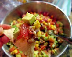 Super Bowl Food - 3 letter words: Cowboy Caviar Dip