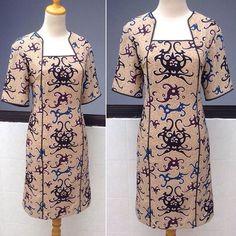 #Batikdress Batik Long Dress, Model Dress Batik, Dress Batik Kombinasi, Blouse Batik, Batik Fashion, Stylish Dresses For Girls, Latest African Fashion Dresses, Brokat, Kebaya