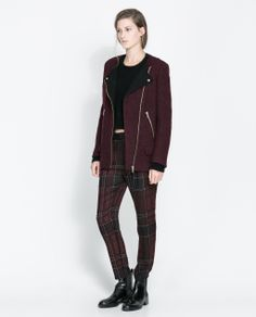 ZARA - SALE - JACKET WITH CONTRASTING LAPEL