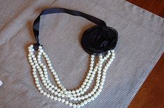 DIY recycled pearl necklace