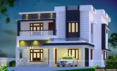 2555 Square Feet Square Meter) Square Yards) 4 bedroom modern contemporary house in beautiful look. Design provided by Dream Form from Kerala.