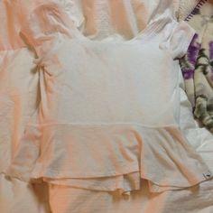 White peplum top White good quality short sleeve peplum top Abercrombie & Fitch Tops Tees - Short Sleeve