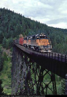 Tren sobre puente