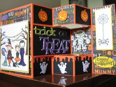 Tri-fold Shutter Haunted Halloween by xx ginger xx - Cards and Paper Crafts at Splitcoaststampers Halloween Paper Crafts, Halloween Cards, Halloween Ideas, Halloween Decorations, Trifold Shutter Cards, Pop Up Box Cards, Haunted Halloween, Fancy Fold Cards, Thanksgiving Cards