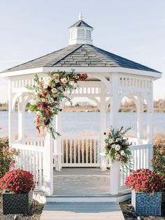 See a burgundy, fall barn wedding shot by Stacy Hart: a NJ wedding photographer. With beautiful florals by A Styled Fete this is a must see! Gazebo Wedding Decorations, Floral Wedding, Wedding Flowers, Dream Wedding, Wedding Shot, Wedding Ceremony, Wedding Ideas, Wedding Color Pallet, Renewal Wedding