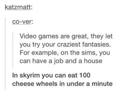 okay, but in the sims you can have a job and a house...so...I think we know which one is crazier
