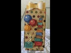 Birthday Tag & Gift Card Holder with Graphic 45 and Tim Holtz - YouTube