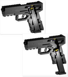 BrickGun BG22 with Magazine cutaway views