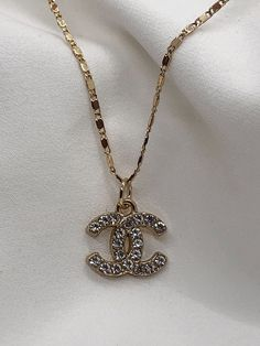 Chanel Pendant, Chanel Necklace, Gold Necklace, Gold Filled Chain, Pink Aesthetic, New Product, 18k Gold, Dior, Accessories