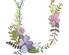 Y Floral Letter Illustration Typography Print por Makewells