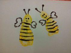 Bumblebee child footprint idea