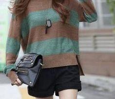 Stripe Cotton-Knit Sweater