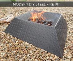 Modern DIY Steel Fire Pit