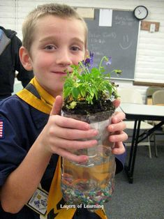 Make a Pop Bottle Ecosystem to show how the animals, plants, and non-living things in an environment all affect one another.  Also includes a lesson on responsibility.