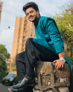 Image may contain: one or more people, people sitting, shoes and outdoor Man Photography, Indian Photography, Dear Crush, My Crush, Parmish Verma Beard, Football Workouts, Photoshoot Pose Boy, Cute Boy Photo, Mens Kurta Designs