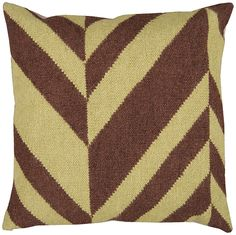 Striped Patchwork Cover - Green/Brown