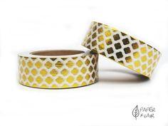 Washi Tape - Foil Rauten gold . Paperflair.de