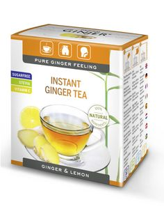 GINJER® Instant Tea with ginger-lemon flavor, sweetened with stevia Kids Party Snacks, Easy Snacks, Healthy Women, Healthy Tips, Stevia, Best Guacamole Recipe, Joe Recipe, Hair Vitamins, Make Up