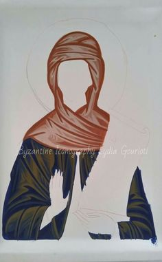 Byzantine Icons, Image Icon, Painted Clothes, Orthodox Icons, Creations, Detail, Painting, Christian Paintings, Virgos