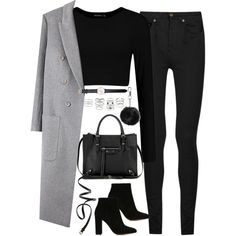 A fashion look from July 2016 featuring Yves Saint Laurent jeans, Gianvito Rossi ankle booties and Balenciaga shoulder bags. Browse and shop related looks.