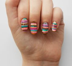 cute and colorful nail art designs