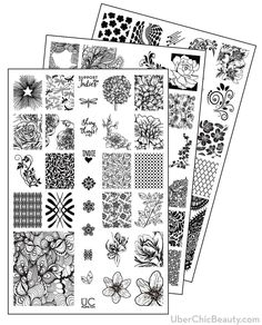 UberChic Beauty - UberChic Nail Stamp Plates - Collection 4, $24.99 (http://uberchicbeauty.com/products/uberchic-nail-stamp-plates-collection-4.html)