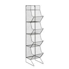 Regalelement im Industrial-Stil aus Metall, H 130cm, schwarz Basket