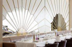 Wall Feature by Martin Brudnizki Design Studio   Oro, Abu Dhabi