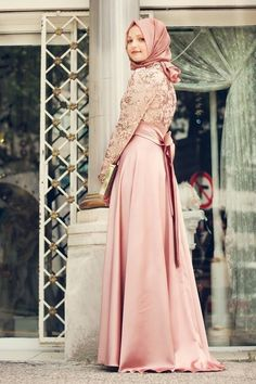 Minel Aşk - Pudra Safir Elbise