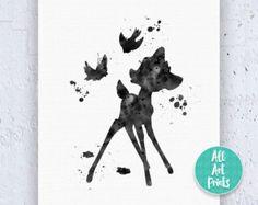 25% OFF: Bambi and Thumper Disney Print Bambi par AllArtPrints