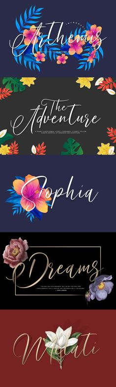 """Give your designs an authentic handcrafted feel. """"Arthemis Script"""" is perfectly suited to signature, stationery, logo, typography quotes, magazine or book cover, website header, clothing, branding, packaging design and more. License: This font included for personal, commercial use, multiple projects, behalf of a client. Fonts may be printed on to products that are subsequently sold, websites and within website design. Graphics may be printed on to... Clothing Branding, Website Header, Script Logo, Typography Quotes, Packaging Design, Commercial, Stationery, Graphics, Magazine"""