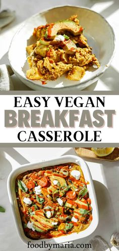 Start the morning off right with this incredible veganbreakfast casserole. It's simple to make and will please even the toughest of crowds. Vegan Breakfast Casserole, Vegan Casserole, Beef Casserole Recipes, Brunch Casserole, Vegan Breakfast Recipes, Brunch Recipes, Best Vegan Recipes, Vegetarian Recipes, Healthy Recipes