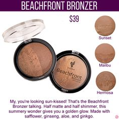 Younique Beachfront Bronzer. To get specials, new product information and more join my VIP Facebook Group  https://www.facebook.com/groups/106517206410341/