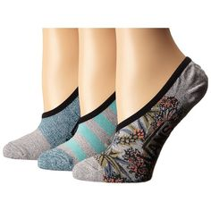 Vans Floral Rising Canoodles (Seaport) Women's No Show Socks ($14) ❤ liked on Polyvore featuring intimates, hosiery, socks, patterned socks, vans socks, floral socks, logo socks and patterned hosiery