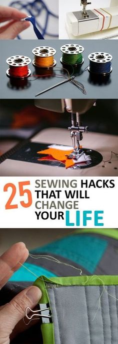 25 sewing hacks that will change your life - sewing tips and tricks that . - 25 sewing hacks that will change your life – sewing tips and tricks that … - Sewing Hacks, Sewing Tutorials, Sewing Crafts, Sewing Tips, Sewing Ideas, Diy Crafts, Sewing Basics, Sewing Lessons, Fabric Crafts
