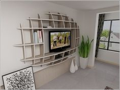 Modern 3d Shelf Unit for Your Living Room. ...I think I've found shelf for my TV.